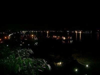 sungai mahakam di waktu malam